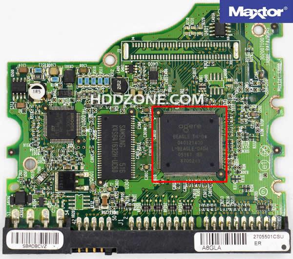 맥스터 하드 디스크 보드 구성 요소