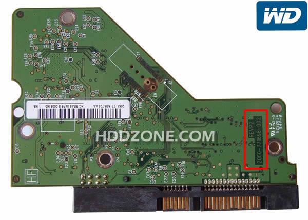 웨스턴 디지털 하드 디스크 보드 구성 요소